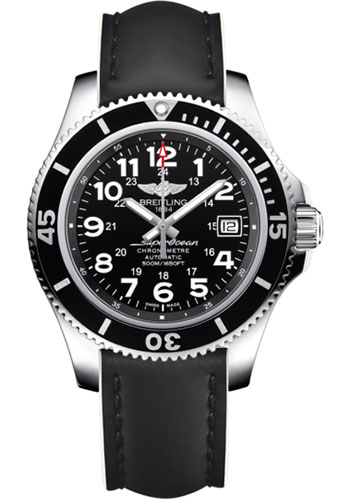 Breitling Watches - Superocean II 42mm - Superocean Strap - Style No: A17365C9/BD67-superocean-black-white-tang