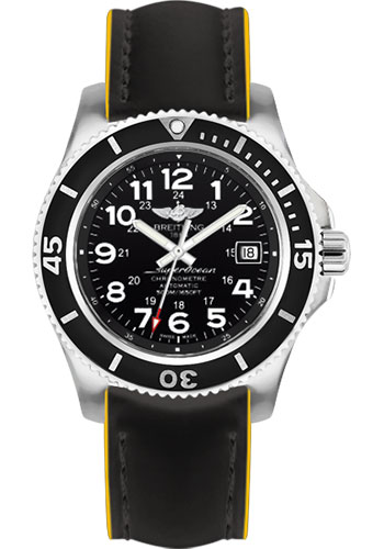 Breitling Watches - Superocean II 42mm - Superocean Strap - Style No: A17365C9/BD67-superocean-black-yellow-tang
