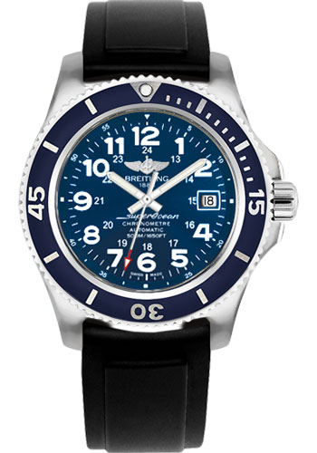Breitling Watches - Superocean II 42mm - Diver Pro II Strap - Deployant - Style No: A17365D1/C915-diver-pro-ii-black-deployant