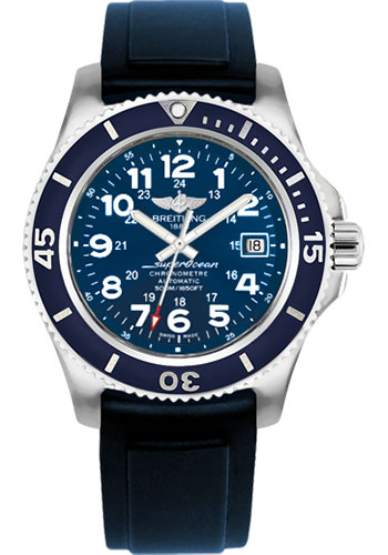 Breitling Watches - Superocean II 42mm - Diver Pro II Strap - Deployant - Style No: A17365D1/C915-diver-pro-ii-blue-deployant