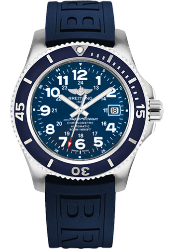 Breitling Watches - Superocean II 42mm - Diver Pro III Strap - Deployant - Style No: A17365D1/C915-diver-pro-iii-blue-deployant
