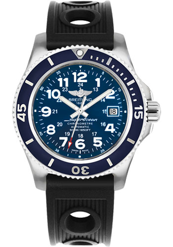 Breitling Watches - Superocean II 42mm - Ocean Racer Strap - Style No: A17365D1/C915-ocean-racer-black-tang