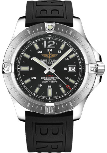 Breitling Watches - Colt Automatic Diver Pro III Strap - Deployant - Style No: A1738811/BD44-diver-pro-iii-black-deployant