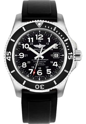 Breitling Watches - Superocean II 44mm - Diver Pro II Strap - Deployant - Style No: A17392D7/BD68-diver-pro-ii-black-deployant