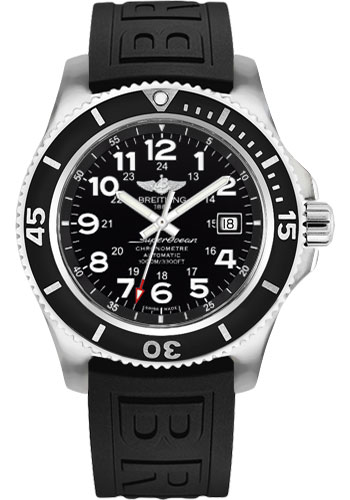 Breitling Watches - Superocean II 44mm - Diver Pro III Strap - Tang - Style No: A17392D7/BD68-diver-pro-iii-black-tang
