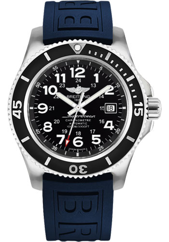 Breitling Watches - Superocean II 44mm - Diver Pro III Strap - Deployant - Style No: A17392D7/BD68-diver-pro-iii-blue-deployant