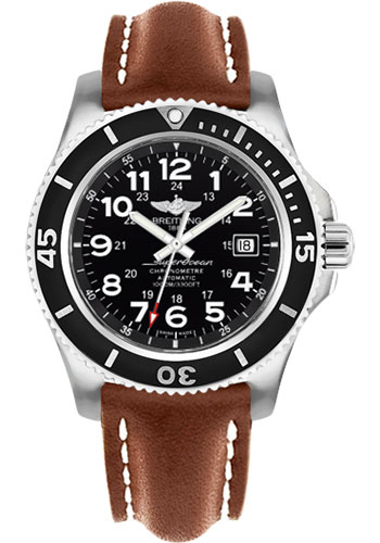 Breitling Watches - Superocean II 44mm - Leather Strap - Deployant - Style No: A17392D7/BD68-leather-gold-deployant