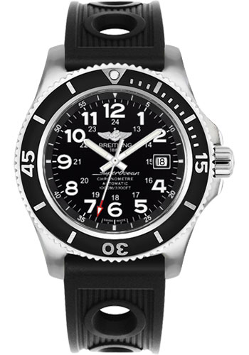 Breitling Watches - Superocean II 44mm - Ocean Racer Strap - Style No: A17392D7/BD68-ocean-racer-black-tang