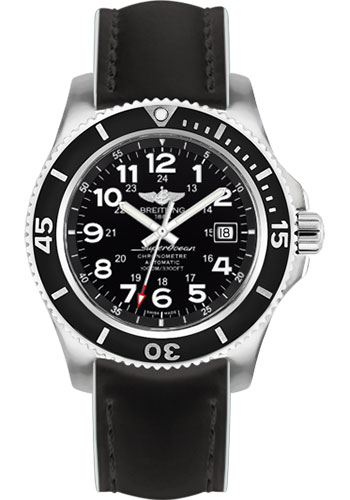 Breitling Watches - Superocean II 44mm - Superocean Strap - Style No: A17392D7/BD68-superocean-black-white-tang
