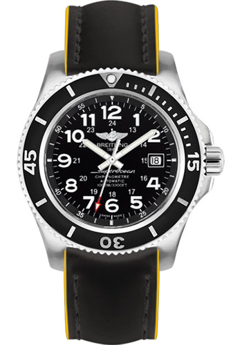 Breitling Watches - Superocean II 44mm - Superocean Strap - Style No: A17392D7/BD68-superocean-black-yellow-tang