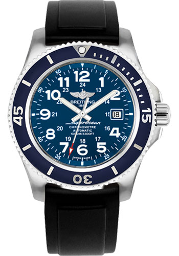 Breitling Watches - Superocean II 44mm - Diver Pro II Strap - Tang - Style No: A17392D8/C910-diver-pro-ii-black-tang