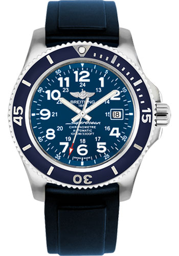 Breitling Watches - Superocean II 44mm - Diver Pro II Strap - Deployant - Style No: A17392D8/C910-diver-pro-ii-blue-deployant