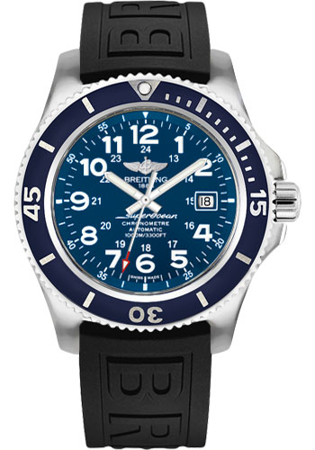 Breitling Watches - Superocean Automatic 44mm - Diver Pro III Strap - Tang - Style No: A17392D8/C910/152S/A20SS.1