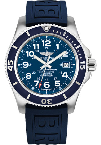 Breitling Watches - Superocean II 44mm - Diver Pro III Strap - Deployant - Style No: A17392D8/C910-diver-pro-iii-blue-deployant