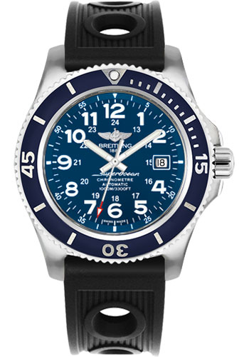 Breitling Watches - Superocean II 44mm - Ocean Racer Strap - Style No: A17392D8/C910-ocean-racer-black-tang