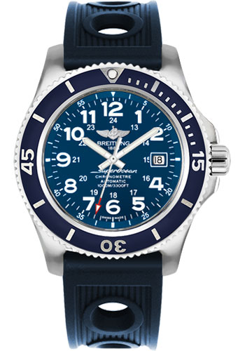 Breitling Watches - Superocean II 44mm - Ocean Racer Strap - Style No: A17392D8/C910-ocean-racer-blue-tang