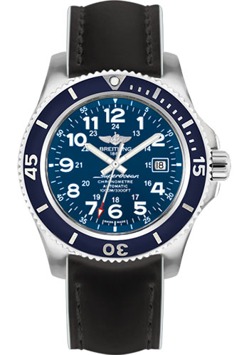 Breitling Watches - Superocean II 44mm - Superocean Strap - Style No: A17392D8/C910-superocean-black-white-tang