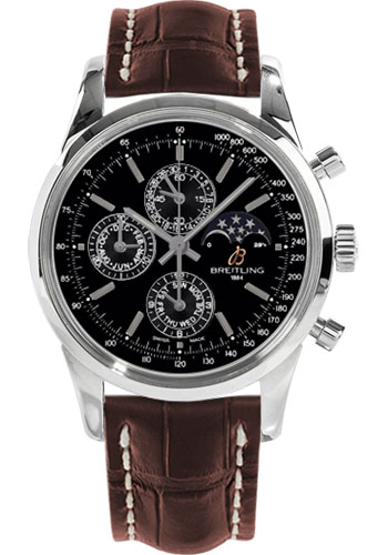 Breitling Watches - Transocean Chronograph 1461 Stainless Steel - Croco Strap - Deployant - Style No: A1931012/BB68-croco-brown-deployant