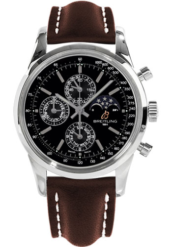 Breitling Watches - Transocean Chronograph 1461 Stainless Steel - Leather Strap - Tang - Style No: A1931012/BB68-leather-brown-tang