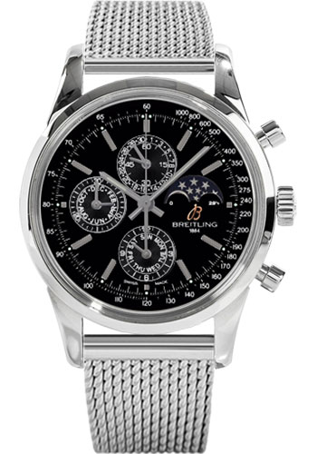 Breitling Watches - Transocean Chronograph 1461 Stainless Steel - Bracelet - Style No: A1931012/BB68-ocean-classic-steel