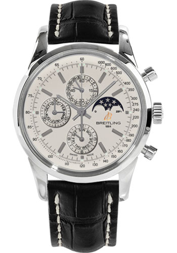 Breitling Watches - Transocean Chronograph 1461 Stainless Steel - Croco Strap - Deployant - Style No: A1931012/G750-croco-black-deployant