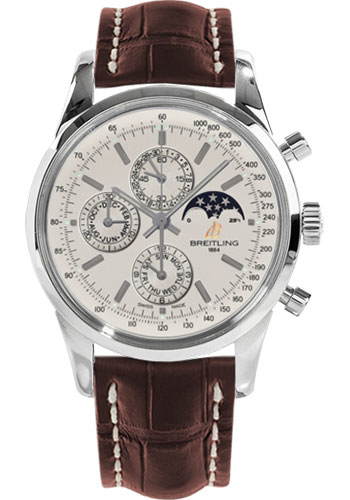 Breitling Watches - Transocean Chronograph 1461 Stainless Steel - Croco Strap - Deployant - Style No: A1931012/G750-croco-brown-deployant