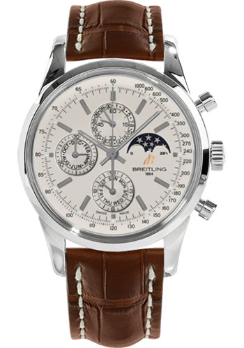 Breitling Watches - Transocean Chronograph 1461 Stainless Steel - Croco Strap - Deployant - Style No: A1931012/G750-croco-gold-deployant
