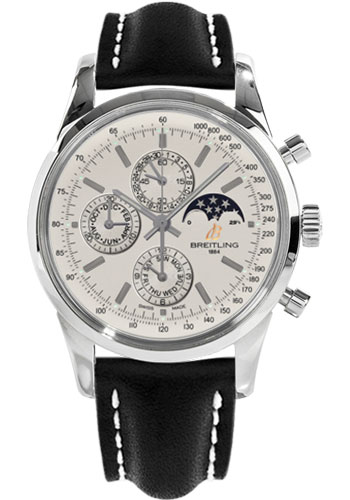 Breitling Watches - Transocean Chronograph 1461 Stainless Steel - Leather Strap - Tang - Style No: A1931012/G750-leather-black-tang