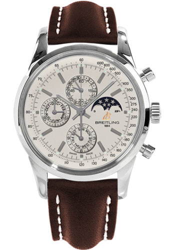 Breitling Watches - Transocean Chronograph 1461 Stainless Steel - Leather Strap - Tang - Style No: A1931012/G750-leather-brown-tang