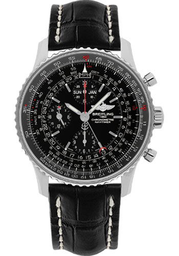 Breitling Watches - Navitimer 1884 - Style No: A2135024/BE62-croco-black-deployant