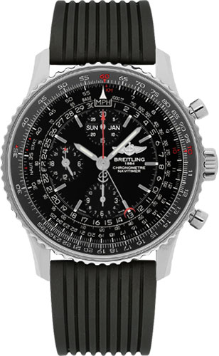 Breitling Watches - Navitimer 1884 - Style No: A2135024/BE62-rubber-navitimer-black-deployant