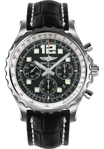 Breitling Watches - Chronospace Automatic Croco Strap - Deployant Buckle - Style No: A2336035/BA68-croco-black-deployant