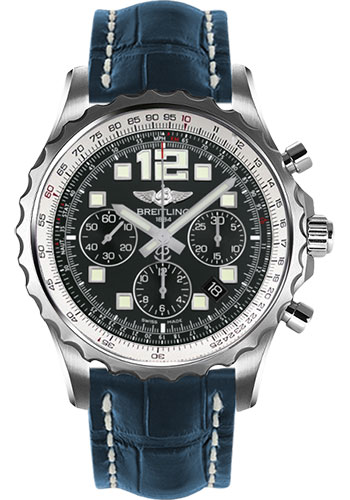 Breitling Watches - Chronospace Automatic Croco Strap - Deployant Buckle - Style No: A2336035/BA68-croco-blue-deployant