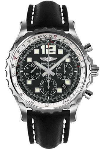 Breitling Watches - Chronospace Automatic Leather Strap - Tang Buckle - Style No: A2336035/BA68-leather-black-tang