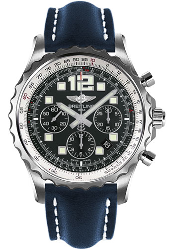 Breitling Watches - Chronospace Automatic Leather Strap - Deployant Buckle - Style No: A2336035/BA68-leather-blue-deployant