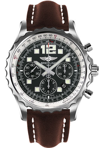 Breitling Watches - Chronospace Automatic Leather Strap - Deployant Buckle - Style No: A2336035/BA68-leather-brown-deployant