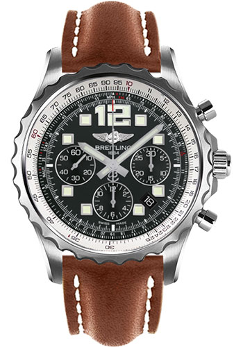 Breitling Watches - Chronospace Automatic Leather Strap - Deployant Buckle - Style No: A2336035/BA68-leather-gold-deployant