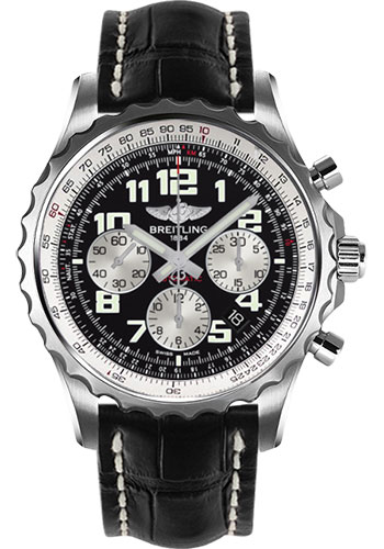 Breitling Watches - Chronospace Automatic Croco Strap - Deployant Buckle - Style No: A2336035/BB97-croco-black-deployant