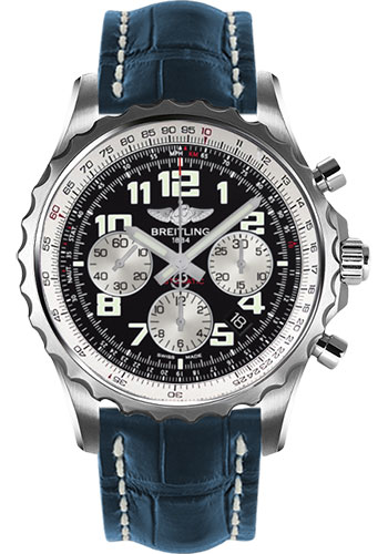 Breitling Watches - Chronospace Automatic Croco Strap - Deployant Buckle - Style No: A2336035/BB97-croco-blue-deployant