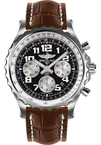 Breitling Watches - Chronospace Automatic Croco Strap - Deployant Buckle - Style No: A2336035/BB97-croco-gold-deployant