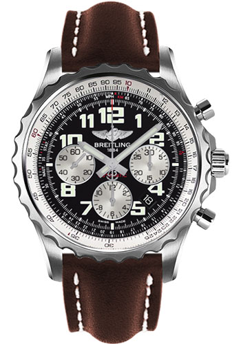 Breitling Watches - Chronospace Automatic Leather Strap - Deployant Buckle - Style No: A2336035/BB97-leather-brown-deployant