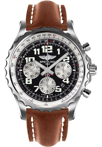 Breitling Watches - Chronospace Automatic Leather Strap - Deployant Buckle - Style No: A2336035/BB97-leather-gold-deployant