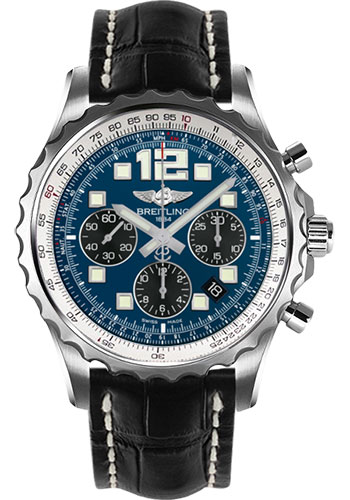 Breitling Watches - Chronospace Automatic Croco Strap - Deployant Buckle - Style No: A2336035/C833-croco-black-deployant