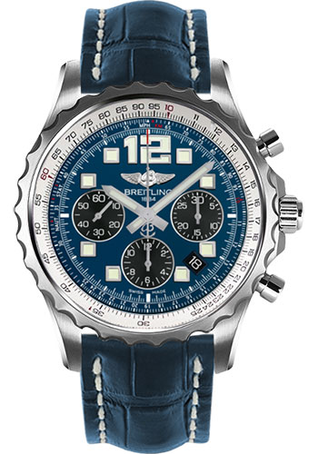Breitling Watches - Chronospace Automatic Croco Strap - Deployant Buckle - Style No: A2336035/C833-croco-blue-deployant