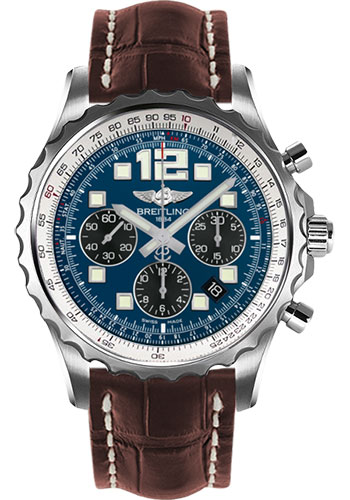 Breitling Watches - Chronospace Automatic Croco Strap - Deployant Buckle - Style No: A2336035/C833-croco-brown-deployant