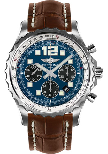 Breitling Watches - Chronospace Automatic Croco Strap - Deployant Buckle - Style No: A2336035/C833-croco-gold-deployant