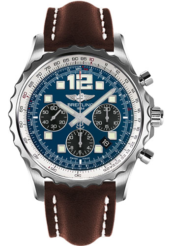 Breitling Watches - Chronospace Automatic Leather Strap - Deployant Buckle - Style No: A2336035/C833-leather-brown-deployant