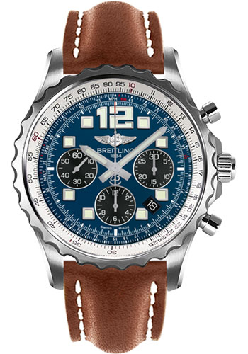 Breitling Watches - Chronospace Automatic Leather Strap - Deployant Buckle - Style No: A2336035/C833-leather-gold-deployant