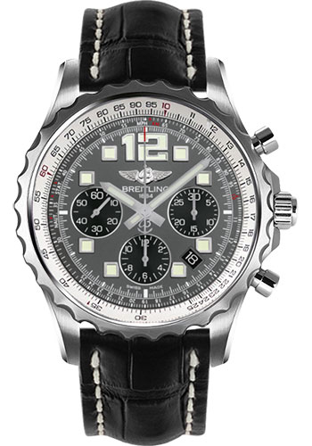Breitling Watches - Chronospace Automatic Croco Strap - Deployant Buckle - Style No: A2336035/F555-croco-black-deployant
