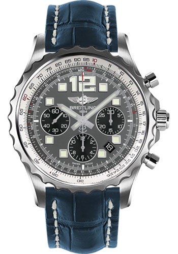 Breitling Watches - Chronospace Automatic Croco Strap - Deployant Buckle - Style No: A2336035/F555-croco-blue-deployant